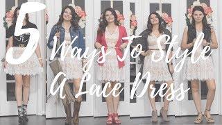 5 Ways To Style A Lace Dress