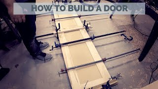 Build An AMAZING Interior Door Out Of REAL Wood - DIY Woodworking Project