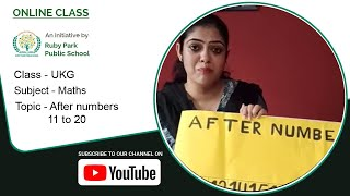 After numbers 11 to 20 | Maths For UKG Students | Learn After Numbers | Ruby Park Public School Thumbnail