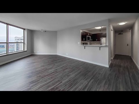 A spacious West Loop studio at the popular Presidential Towers
