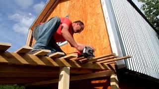 Деревянная терраса | Пристройка к дачному дому