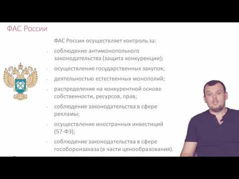 Функции ФАС России