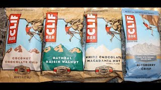 CLIF Coconut Chocolate Chip, Oatmeal Raisin Walnut, White Chocolate Macadamia Nut, Blueberry Crisp