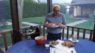 Приготовление летнего томатного супа по мотивам гаспаччо в прямом эфире