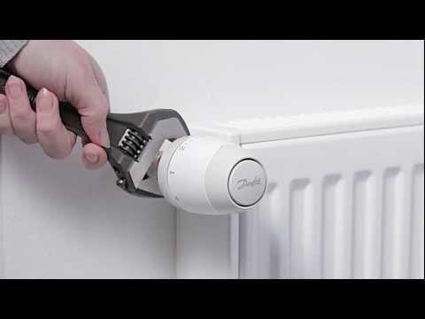 Установка термоголовки Danfoss