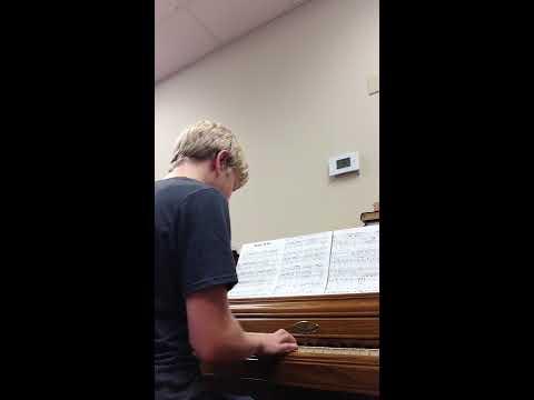 One of my piano students Josiah Bonin 13 playing Keith Green