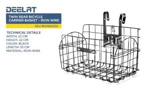 Twin Rear Bicycle Carrier Basket - Iron Wire