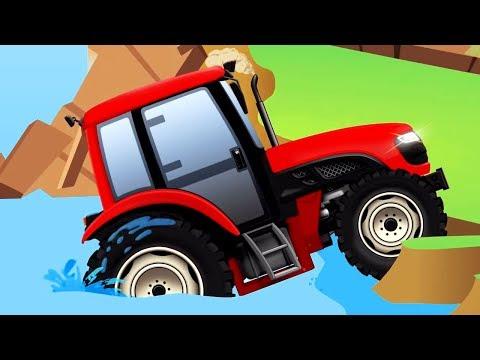 TRACTOR y COCHES. Tractores infantiles. OFFROAD. Dibujos animados de coches para niños