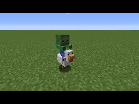 How to Spawn a Baby Zombie Riding a Chicken in Minecraft 1.8