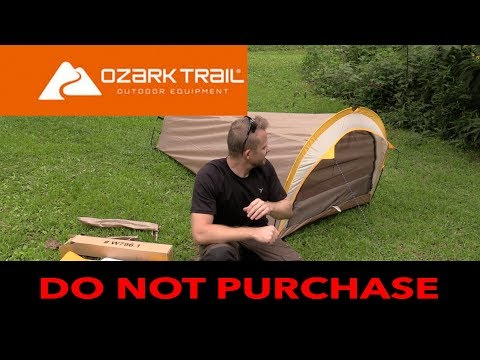 Is a $25 Tent from Walmart Waterproof? – Ozark 1 Person Backpacking Tent