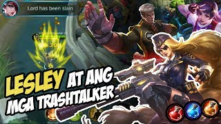 Ang hamon kay LESLEY ng mga TRASHTALKER!