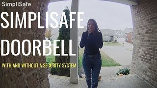 SimpliSafe Doorbell Review: With & Without a SimpliSafe Alarm  (Resolution Compare to Nest Hello)