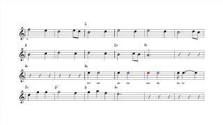 Nota Akor Eşlik -  Gitme Aklım Sende Kalır - C Instruments ( La )