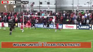 preview picture of video 'Welling United V Charlton Athletic Pre Season Friendly 14th July 2012'