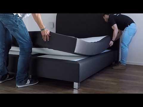 Boxspringbett WELCON ROCKSTAR - Aufbau ohne Werkzeug in 10 Minuten