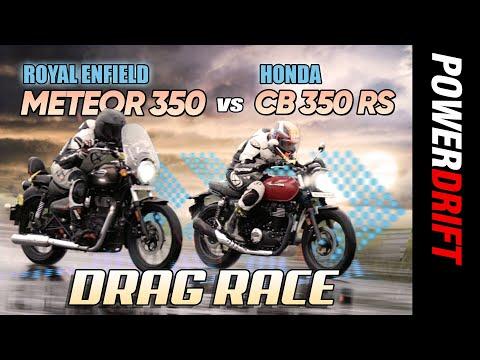 Royal Enfield Meteor 350 vs Honda CB350 RS | Drag Race | PowerDrift