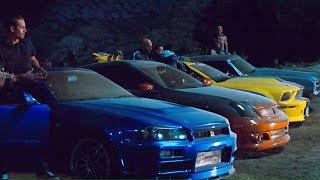 FAST and FURIOUS 4 - Tunnel Race Chevelle vs GT-R vs Gran Torino vs Mustang vs G35 #1080HD