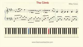 "How To Play Piano: Miley Cyrus ""The Climb"" Piano Tutorial by Ramin Yousefi"