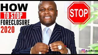 How to Stop Foreclosure 2020