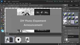 Easy DIY Photoshop Elements Tutorial: Elopement or Engagement Announcement