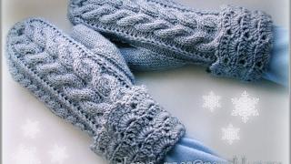 Вязание Варежек Спицами - видео 2017 / Knitting mittens spokes video /Knitting Fäustlinge Speichen