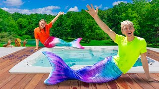 Undercover as a Mermaid for 24 Hours!! (Pond Monster Spotted in Backyard)