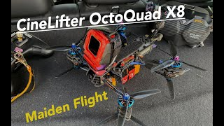 Junkyard-Quad CineLifter X8 HD - OctoQuad Maiden - Spare parts quad - cinematic FPV DJI GepRC Mark4