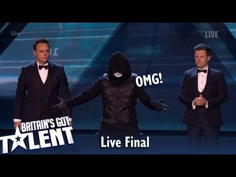 OMG! Magician X REVEALS Face LIVE TV and Everyone SPEECHLESS! | Britain's Got Talent 2019 (видео)