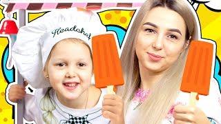 ПРОДАВЕЦ МОРОЖЕНОГО Магазин расширяется Передвижной Лоток с мороженым и Хот Догами Видео для детей