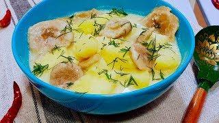 Не знаю как это называется, но это очень вкусно! Картошка с солеными грибами