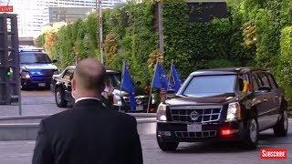 WATCH: President Donald Trump Arrives at the European Union Headquarters 2017 Trump EU Speech