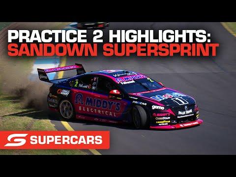 SUPERCARS 2021 Sandown スーパースプリント 練習走行2ハイライト動画