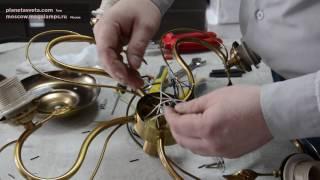 Сборка потолочной люстры — видео-инструкция