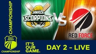 Jamaica v T&T Red Force - Day 2 | West Indies Championship | Friday 11th January 2019