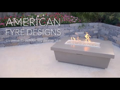 American Fyre Designs Contempo 52-Inch Rectangular Fire Table - Smoke