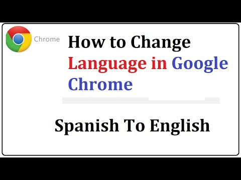 how to change google chrome spanish to english
