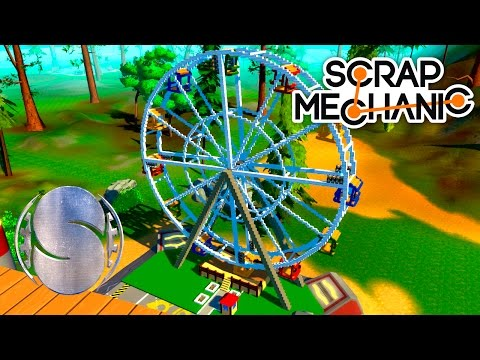 Колесо обозрения в Scrap Mechanic