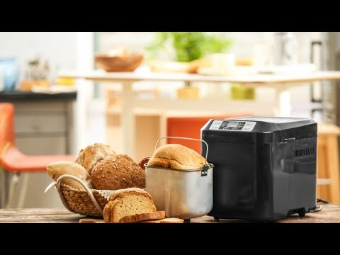 , SKG Automatic Bread Machine 2LB – Beginner Friendly Programmable Bread Maker (19 Programs, 3 Loaf Sizes, 3 Crust Colors, 15 Hours Delay Timer, 1 Hour Keep Warm) – Gluten Free Whole Wheat Breadmaker