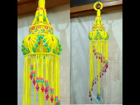 Easy Macrame Jhumar With Easy Tutorial.