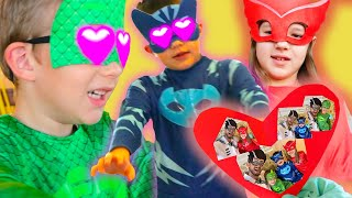 PJ Masks in Real Life ❤️ Zombie Love Cakes! ❤️ PJ Masks Official