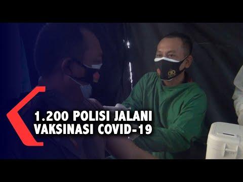 1.200 Polisi di Banyuwangi Jalani Vaksinasi Tahap Pertama