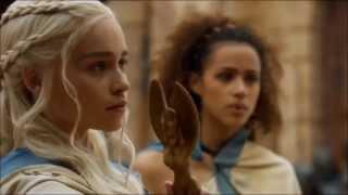 Don't mess with Daenerys Stormborn of Targaryen. Speaking Valyrian. Season 3, episode 4.