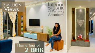Home tour of 2BHK Flat | Interior Design | Regency Anantam Dombivli | Mandir and Children Bedroom