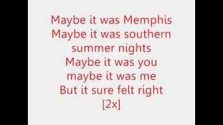 Maybe It Was Memphis - Pam Tillis (Lyrics)