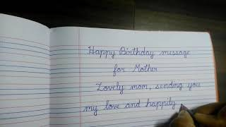How to write Happy birthday for mother in beautiful handwriting