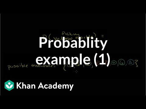 How to find simple probability (example with marbles) (video)  14f8b1477