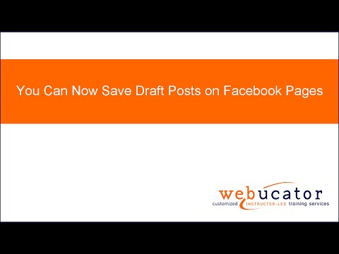 You Can Now Save Draft Posts on Facebook Pages