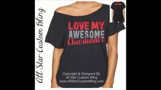 All Star Custom Bling Cheer Shirts