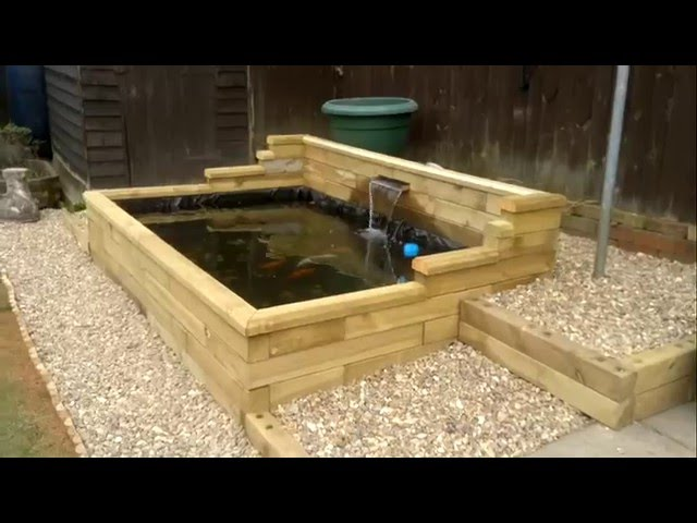 Easy build ,raised wooden pond.