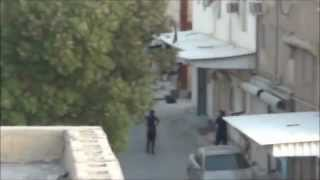 preview picture of video 'Bahrain| mercenaries shooting tear gas inside a home in Aali - 27-5-2012'
